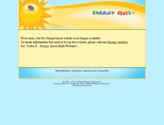 energyquest.ca.gov screenshot