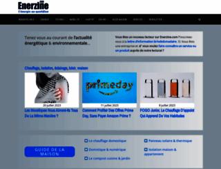 enerzine.com screenshot