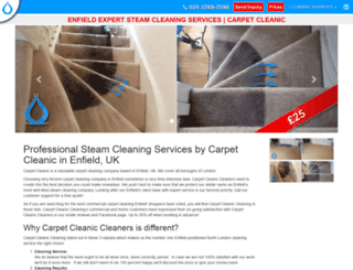 enfield.carpetcleanic.co.uk screenshot