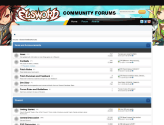 enforums.elswordonline.com screenshot