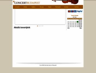 eng.concertbudapest.com screenshot