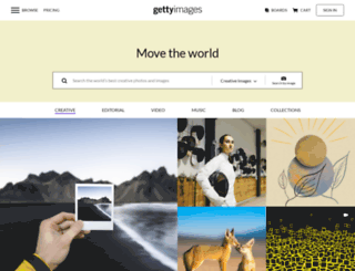 engage.gettyimages.com screenshot