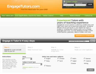 engagetutors.com.sg screenshot