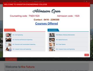 engineering.kingston.ac.in screenshot