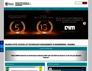 engineering.nmims.edu screenshot