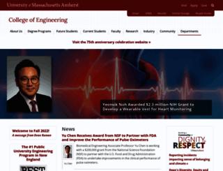 engineering.umass.edu screenshot