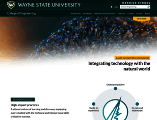 engineering.wayne.edu screenshot