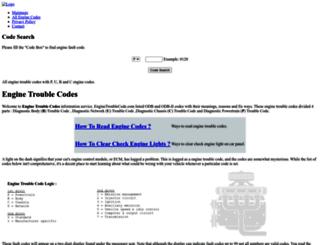 enginetroublecode.com screenshot