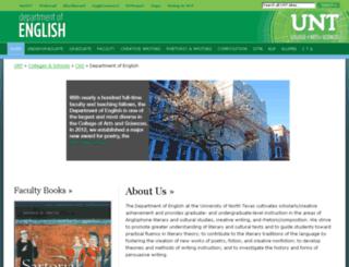 engl.unt.edu screenshot
