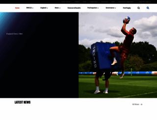 englandrugby.com screenshot