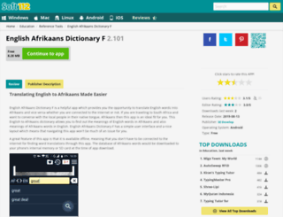 english-afrikaans-dictionary-f.soft112.com screenshot