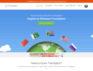 english-afrikaans.co.za screenshot