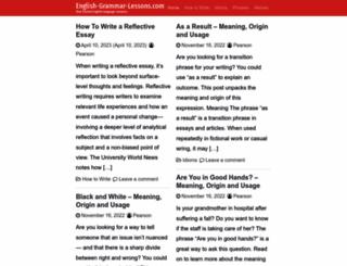 english-grammar-lessons.com screenshot