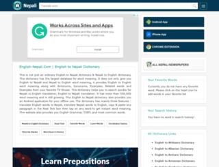 english-nepali.com screenshot