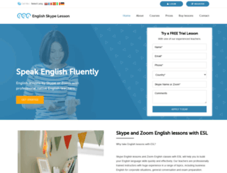 english-skype-lesson.com screenshot