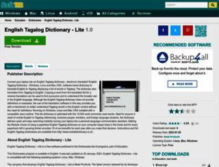 english-tagalog-dictionary-lite.soft112.com screenshot