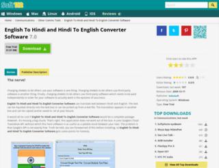 english-to-hindi-and-hindi-to-english-converter-software.soft112.com screenshot