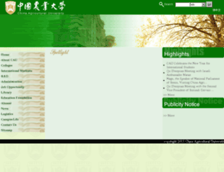 english.cau.edu.cn screenshot