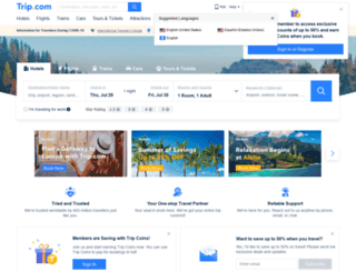 english.ctrip.com screenshot