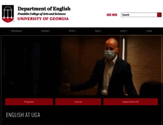 english.uga.edu screenshot