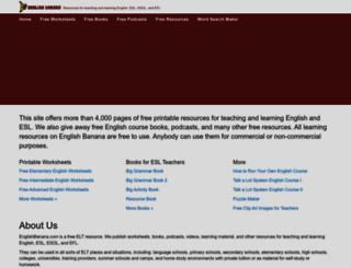 englishbanana.com screenshot