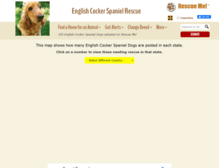 englishcockerspaniel.rescueme.org screenshot