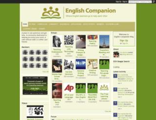 englishcompanion.ning.com screenshot