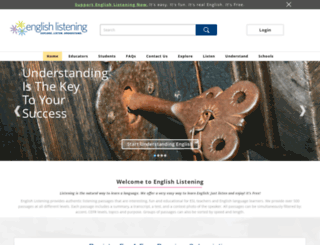 englishlistening.com screenshot