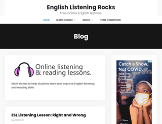 englishlistening.rocks screenshot