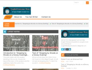 englishliteraturenotes.net screenshot