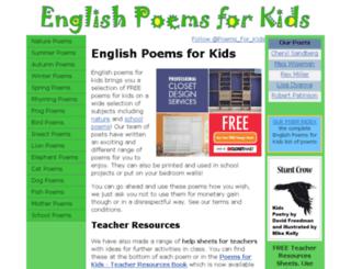 englishpoemsforkids.com screenshot