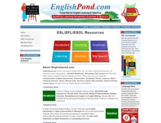 englishpond.com screenshot