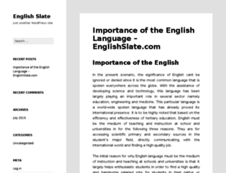 englishslate.com screenshot