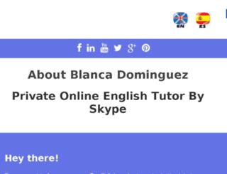englishtutorblanca.com screenshot