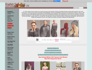 englishyarns.co.uk screenshot
