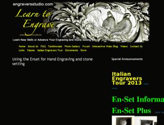 engraversstudio.com screenshot