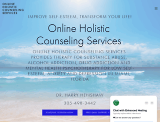 enhancedhealing.com screenshot