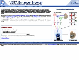 enhancer.lbl.gov screenshot