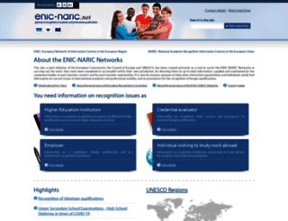 enic-naric.net screenshot