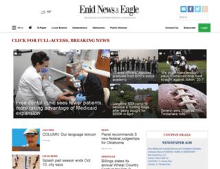 enidnewsandeagle.com screenshot