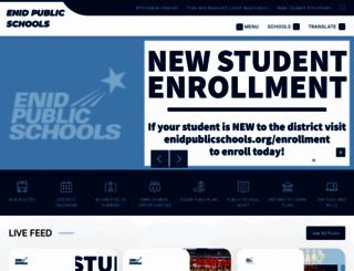 enidpublicschools.org screenshot