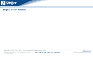 enigma.sanger.ac.uk screenshot