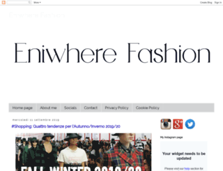 eniwherefashion.blogspot.al screenshot