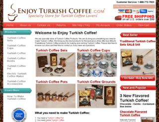 enjoyturkishcoffee.com screenshot
