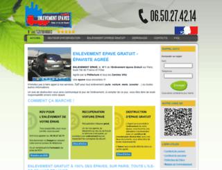 enlevementepaves.fr screenshot