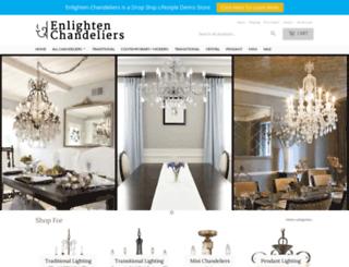 enlightenchandeliers.com screenshot