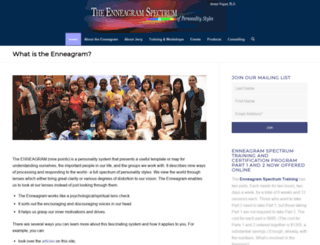 enneagramspectrum.com screenshot