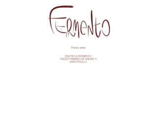 enotecafermento.it screenshot