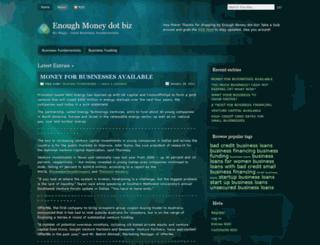 enoughmoney.wordpress.com screenshot