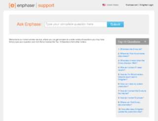 enphase.intelliresponse.com screenshot